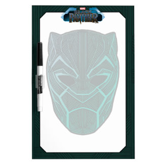 Black Panther | Black Panther Etched Mask Dry Erase Board