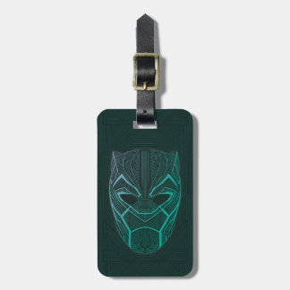 Black Panther | Black Panther Etched Mask Luggage Tag