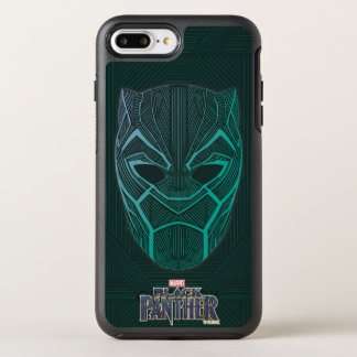 Black Panther | Black Panther Etched Mask OtterBox Symmetry iPhone 8 Plus/7 Plus Case