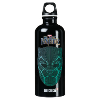 Black Panther | Black Panther Etched Mask Water Bottle