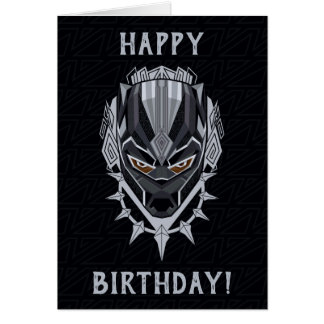 Black Panther | Black Panther Head Emblem Card