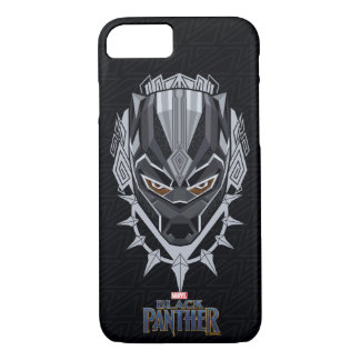 Black Panther | Black Panther Head Emblem iPhone 8/7 Case