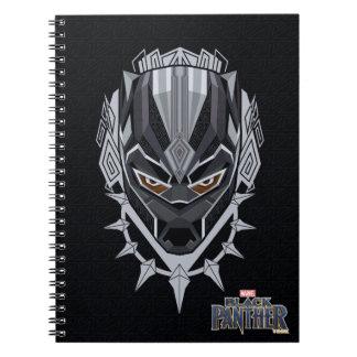 Black Panther | Black Panther Head Emblem Notebooks
