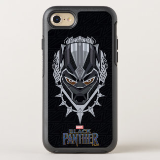 Black Panther | Black Panther Head Emblem OtterBox Symmetry iPhone 8/7 Case