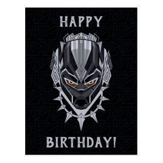Black Panther | Black Panther Head Emblem Postcard