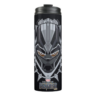 Black Panther | Black Panther Head Emblem Thermal Tumbler