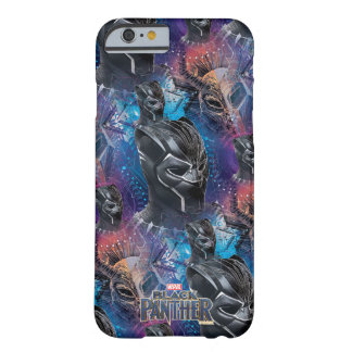 Black Panther | Black Panther & Mask Pattern Barely There iPhone 6 Case