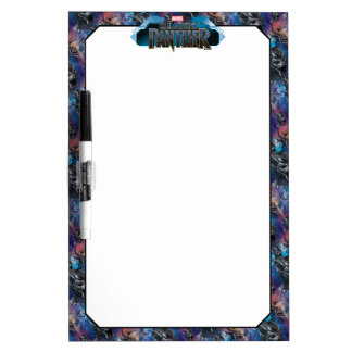 Black Panther | Black Panther & Mask Pattern Dry Erase Board