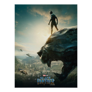 Black Panther | Black Panther Standing Atop Lair Poster