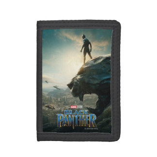 Black Panther   Black Panther Standing Atop Lair Trifold Wallet