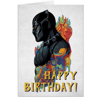 Black Panther   Black Panther Tribal Graffiti Card