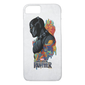 Black Panther | Black Panther Tribal Graffiti iPhone 8/7 Case