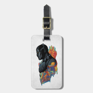 Black Panther | Black Panther Tribal Graffiti Luggage Tag