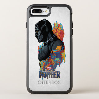 Black Panther | Black Panther Tribal Graffiti OtterBox Symmetry iPhone 8 Plus/7 Plus Case