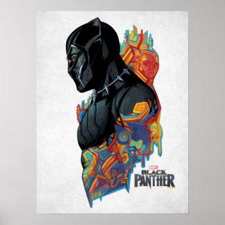 Black Panther | Black Panther Tribal Graffiti Poster
