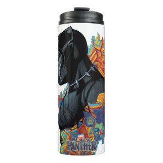 Black Panther | Black Panther Tribal Graffiti Thermal Tumbler