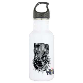 Black Panther | Black & White Head Sketch 532 Ml Water Bottle