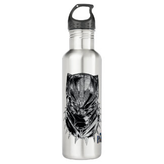 Black Panther | Black & White Head Sketch 710 Ml Water Bottle