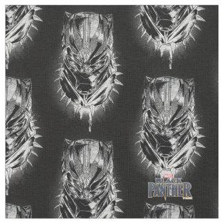 Black Panther | Black & White Head Sketch Fabric