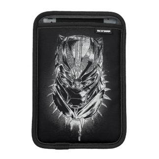 Black Panther | Black & White Head Sketch iPad Mini Sleeve