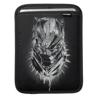 Black Panther | Black & White Head Sketch iPad Sleeve