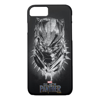 Black Panther | Black & White Head Sketch iPhone 8/7 Case