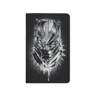 Black Panther | Black & White Head Sketch Journal