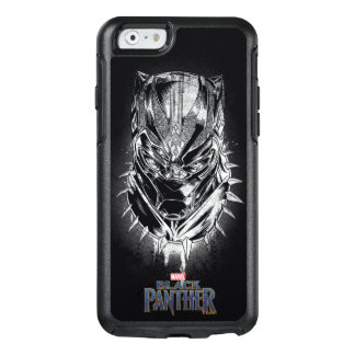 Black Panther | Black & White Head Sketch OtterBox iPhone 6/6s Case