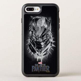 Black Panther | Black & White Head Sketch OtterBox Symmetry iPhone 8 Plus/7 Plus Case