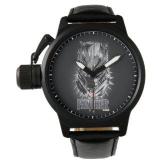 Black Panther | Black & White Head Sketch Watch