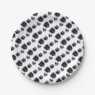 Black Panther Bowling Mascot Breaking Background Paper Plate