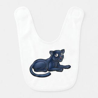 Black Panther Cartoon Character Bib