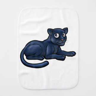 Black Panther Cartoon Character Burp Cloth