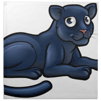 Black Panther Cartoon Character Napkin