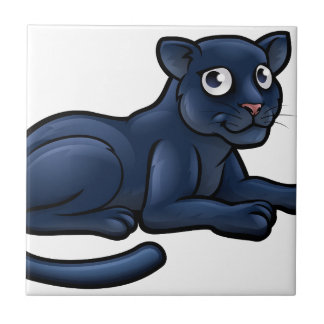 Black Panther Cartoon Character Tile