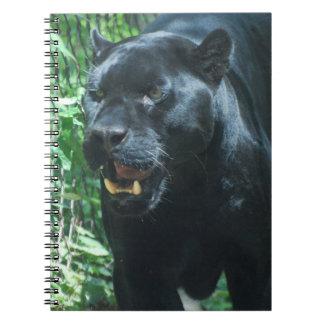 Black Panther Cat Notebook