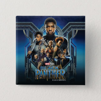 Black Panther | Characters Over Wakanda 15 Cm Square Badge