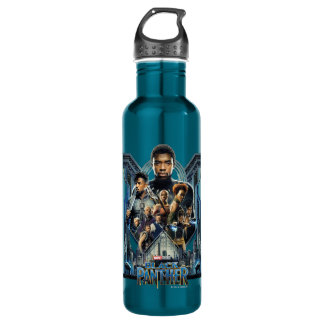 Black Panther | Characters Over Wakanda 710 Ml Water Bottle