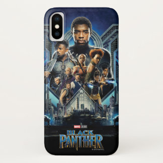 Black Panther   Characters Over Wakanda iPhone X Case