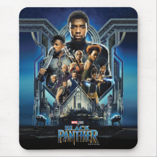 Black Panther | Characters Over Wakanda Mouse Pad