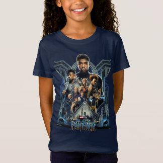 Black Panther   Characters Over Wakanda T-Shirt