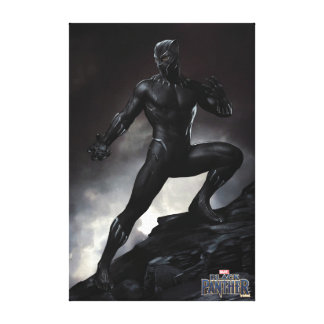 Black Panther | Claws Out Canvas Print