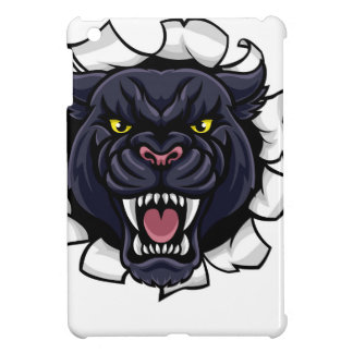 Black Panther Cricket Mascot Breaking Background Cover For The iPad Mini