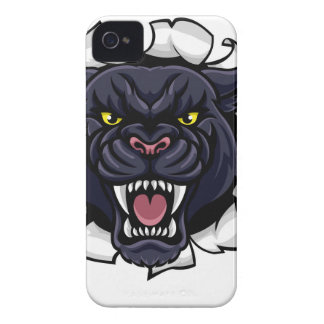 Black Panther Cricket Mascot Breaking Background iPhone 4 Covers
