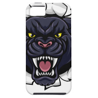 Black Panther Cricket Mascot Breaking Background iPhone 5 Cover