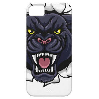 Black Panther Cricket Mascot Breaking Background iPhone 5 Covers