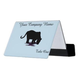 Black Panther Desk Business Card Holder