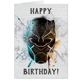 Black Panther   Dual Panthers Street Art Card