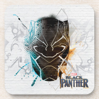 Black Panther | Dual Panthers Street Art Coaster