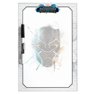 Black Panther | Dual Panthers Street Art Dry Erase Board